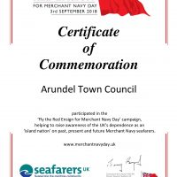 Arundel TC Certificate - Red Ensign