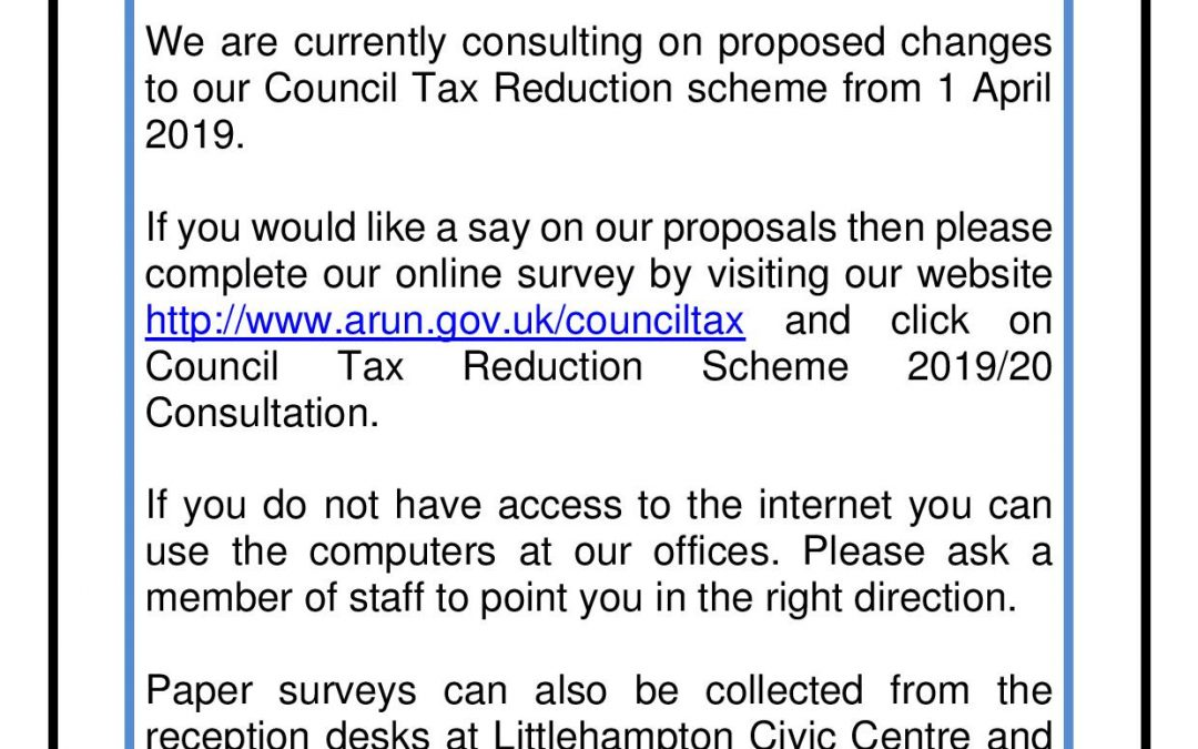 Council Tax Reduction Consultation