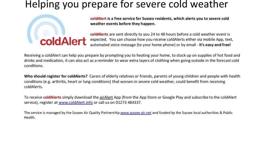 coldAlert – Helping you prepare for severe cold weather.
