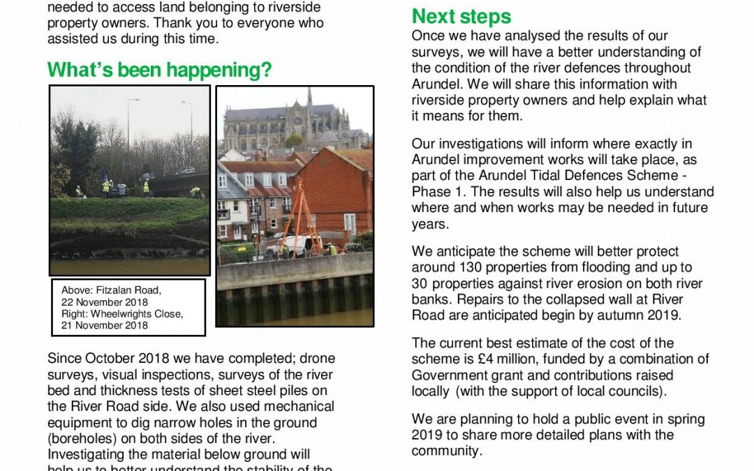 Arundel Tidal Defences Scheme – Phase 1