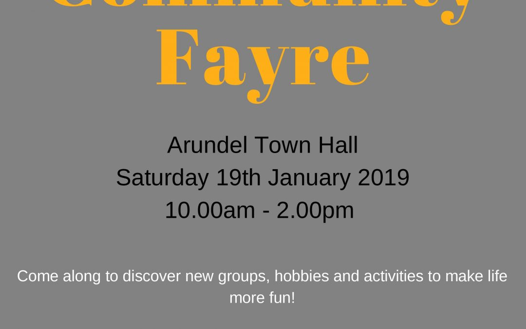Community Fayre 19th January 2019 – Get involved – Play your part!