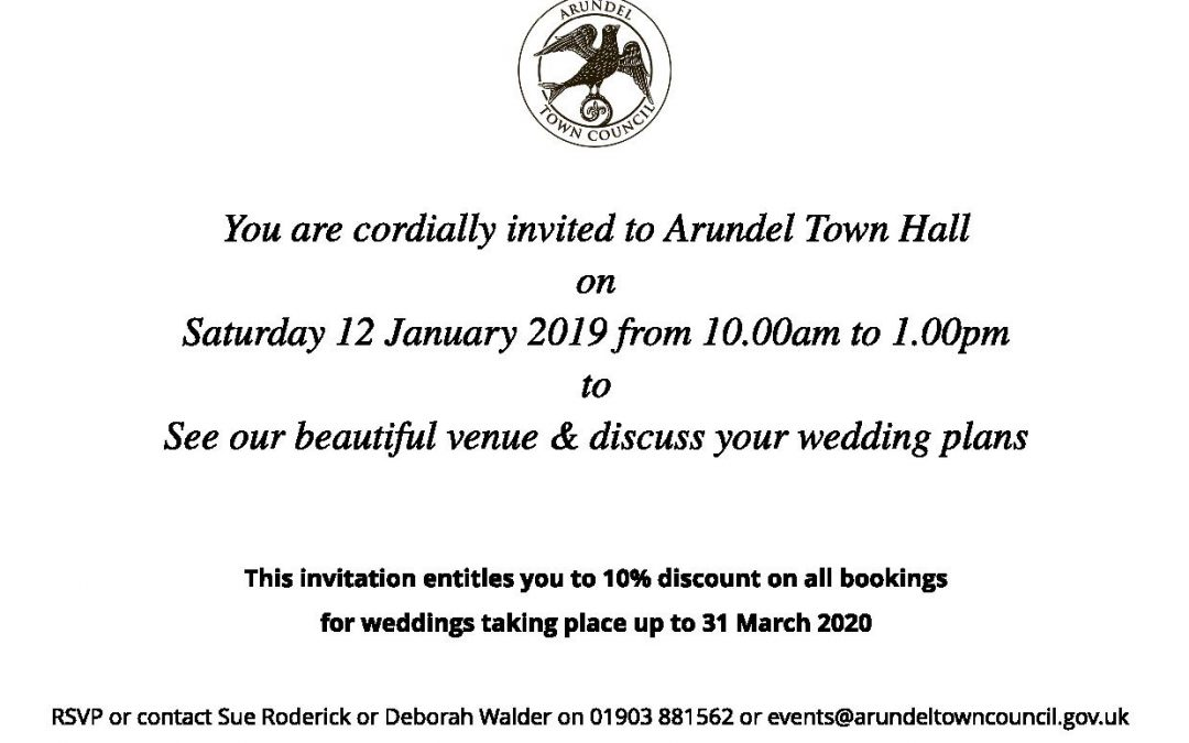 Town Hall Open Morning Invite