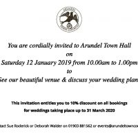 Wedding Services Open Day Invite 2019