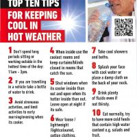 Top Ten Tips Keeping Cool in Hot Weather-page-001